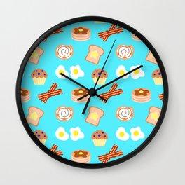Breakfast Food Pattern Wall Clock