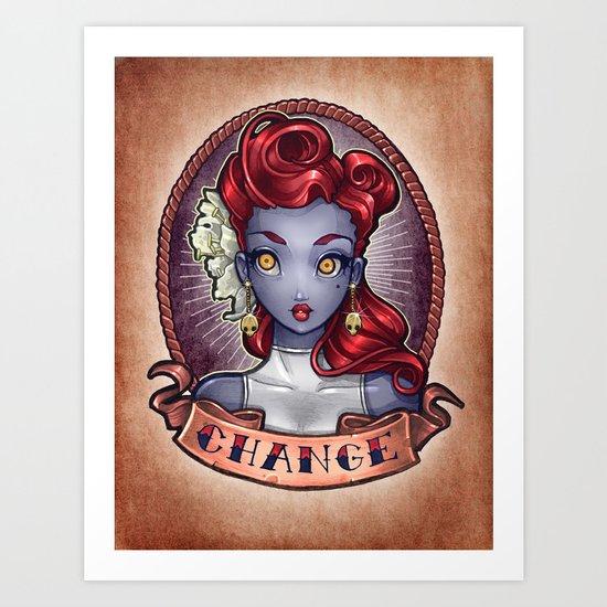 CHANGE pinup Art Print
