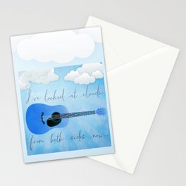 I've Looked At Clouds From Both Sides Now Stationery Cards