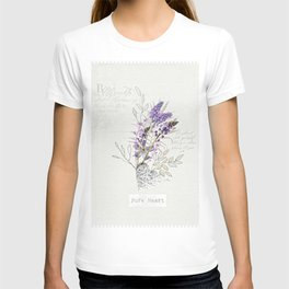 Living Flowers Tryptych T-shirt