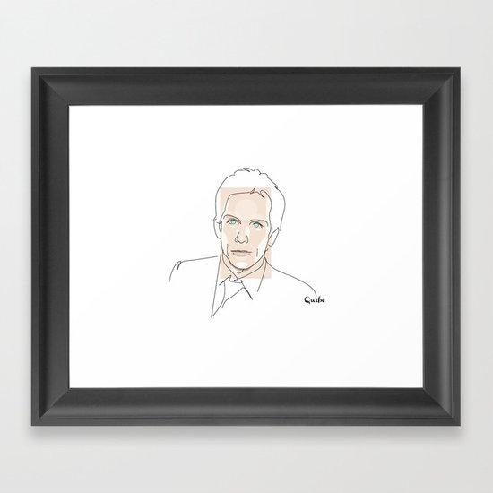 Portrait: Ben Stiller Framed Art Print
