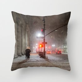 New York City Snow Romance Throw Pillow