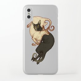 Monster Kitties Clear iPhone Case