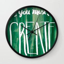 You Must Create Wall Clock