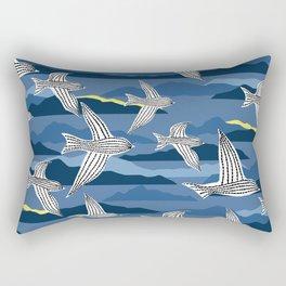 sea birds at night Rectangular Pillow