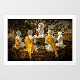 Five Buddhas Thailand Art Print