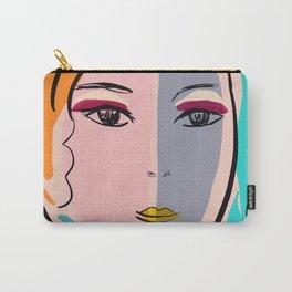 Pastel Pop Art Girl Portrait Minimalist Carry-All Pouch
