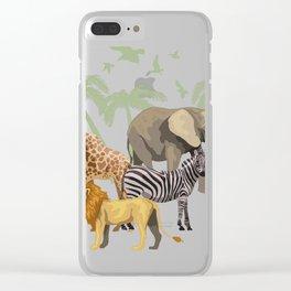 Zoo Animals design, Zoo graphic, Wildlife Animal Tee Clear iPhone Case