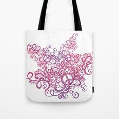 Peace swirl Tote Bag