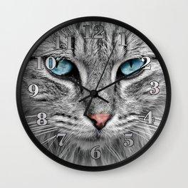 Cat Face Wall Clock