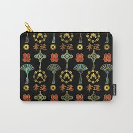 Colorful Lucky Chinese Symbols  Pattern Carry-All Pouch