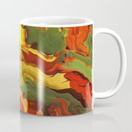 abstract fall leaves Coffee Mug