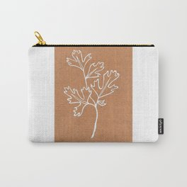 Parsley Art Print —Botanical Herb Print — White Ink Parsley Design Carry-All Pouch