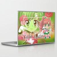 sailor jupiter Laptop & iPad Skins featuring Chibi Sailor Jupiter by Neo Crystal Tokyo