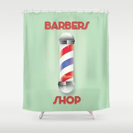 Barbers Shop Shower Curtain