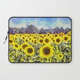 Sunflower Fields Of Summer Dreams Laptop Sleeve