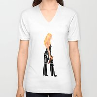 buffy the vampire slayer V-neck T-shirts featuring Buffy the Vampire Slayer by Ayse Deniz