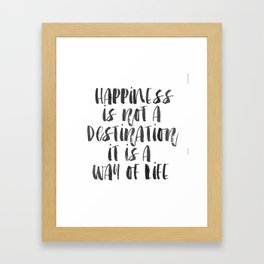 Inspirational Quote Happiness Quote Hustle Quote Print Typography Print Quote Buddha Quote Buddha Framed Art Print