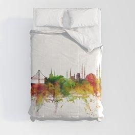 Istanbul Turkey Skyline Comforters