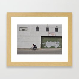 Bywater Bicyclist - New Orleans, Louisiana Framed Art Print