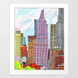 Dancing Kansas City Cityscape Art Print