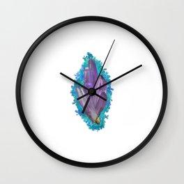 Amethyst Crystal Cluster Wall Clock