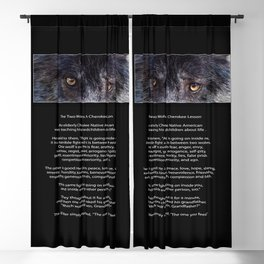 TWO WOLVES CHEROKEE  Native American Tale Blackout Curtain
