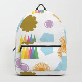 Sun Rainbow Sky Flower Backpack