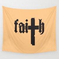 faith Wall Tapestries featuring Faith by Spooky Dooky