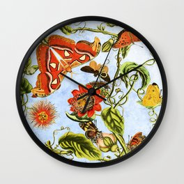 Fly by blue. Wall Clock