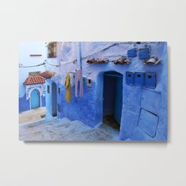 Blue Streets of Chefchaouen   Morocco   Metal Print