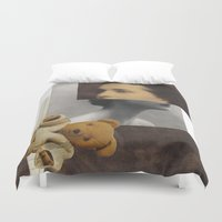 teddy bear Duvet Covers featuring Teddy by KatinkaHanselman