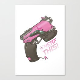 Nerf This! D.va Quote Poster, OW Canvas Print