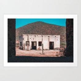 Abandoned building in Baja California Sur Art Print