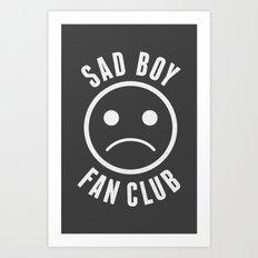 Sad Boy Club (White) Art Print