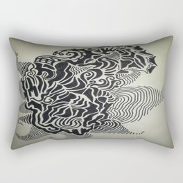 Ink Doodle Graphic Design Rectangular Pillow