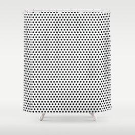 Modern black and white simple elegant pattern Shower Curtain