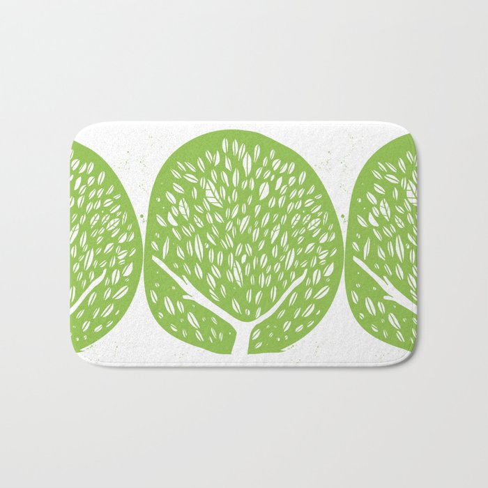 Tree of life - pea green Bath Mat
