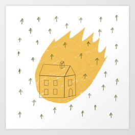Maison de feu Art Print