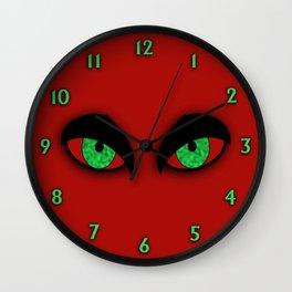 Evil Eyes Halloween Wall Clock