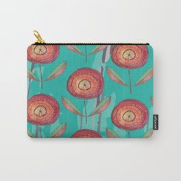 Round Flowers Carry-All Pouch