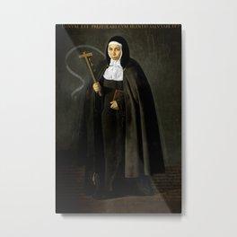 """Diego Velázquez """"Madre Jerónima de la Fuente"""" Metal Print"""