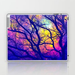 Black Trees Deep Bright & Colorful Space Laptop & iPad Skin