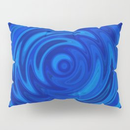 Water Moon Cobalt Swirl Pillow Sham