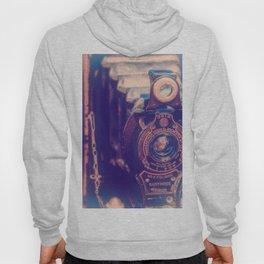 Preserving the Past a digital photograph of a vintage folding camera Hoody