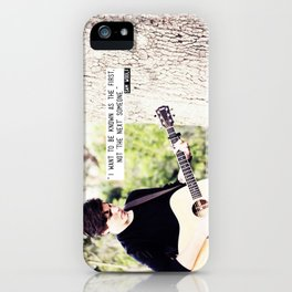 Sam Woolf - The First Someone iPhone Case
