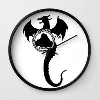 smaug Wall Clocks featuring Smaug by Selis Starlight