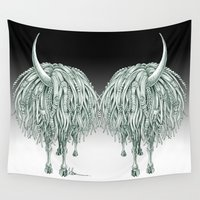 beast Wall Tapestries featuring Horny Beast by TAOJB