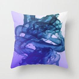 Blue Violet Bends Throw Pillow