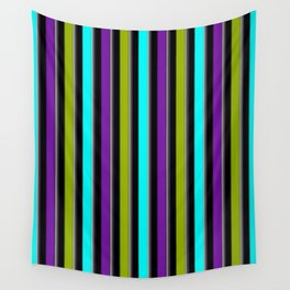 VERTICAL Retro Candy Stripe Wall Tapestry